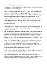 Formandens beretning i Kreds 1 til GF 2013: I den seneste tid er jeg ...
