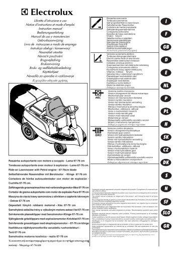 OM, McCulloch, Euromac S42, Promac46 II, Mac539 E, Mac542