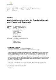 Møde i uddannelsesrådet for Specialuddannel- sen i Psykiatrisk ...