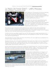 Her kommer det samlede 2007 preview til Le - RacingTours