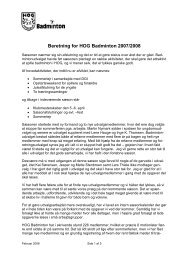 Årsberetning 2007-08 - HOG Badminton