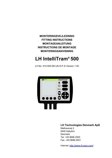 TeeJet LH500 IntelliTram Fit Instructions (in English)