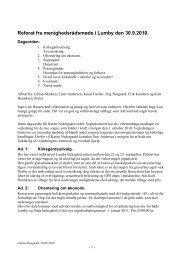Referat fra menighedsrådsmøde i Lumby den 30.9 ... - Lumby sogn