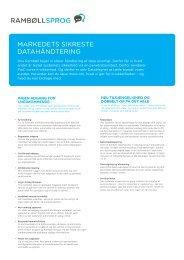Læs pdf om produktets omfattende sikkerhed - Rambøll Sprog