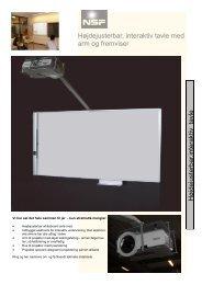Højdejusterbar, interaktiv tavle med arm og fremviser ... - NSF