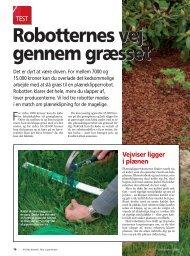 Robotternes vej gennem græsset Robotternes vej ... - Vanning AS