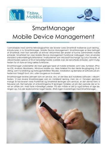 SmartManager Generelt