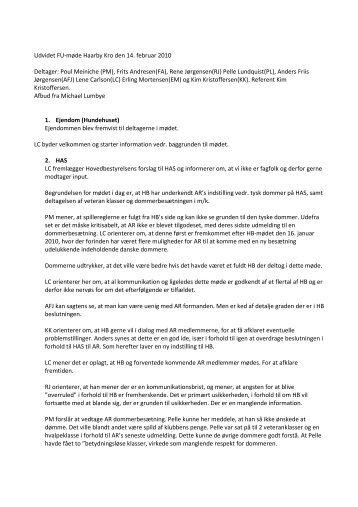 Referat FU-møde 14-02-2010