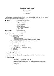 Bestyrelsesmøde, 19. maj 2009 - Mollerup Golf Club