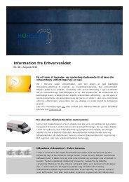Information aug 2012 nr. 40 - Horsens Erhvervsråd
