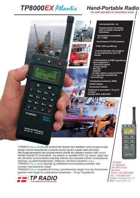 TP8000EX Datablad DK. - TP Radio