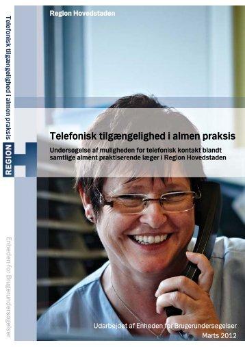 Telefonisk tilgængelighed i almen praksis - Enheden for ...