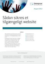 Whitepaper - Sådan sikres et tilgængeligt website - Siteimprove