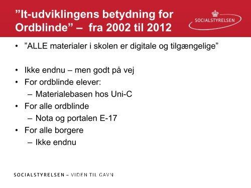 Erik Arendal Videnscenter for Handicap, Hjælpemidler - Ordblinde ...