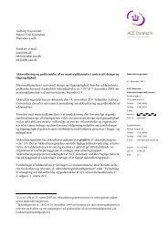 Master i universelt design og tilgængelighed - ACE Denmark