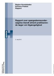 Rapport over spørgeskemaundersøgelse blandt alment ...