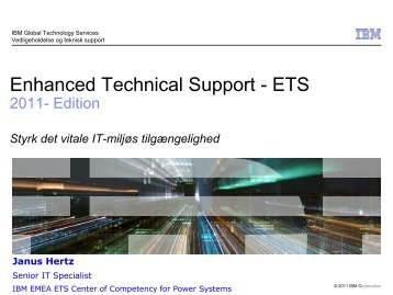 Enhanced Technical Support - ETS 2011- Edition ... - Soft Design A/S