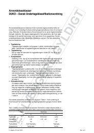 Vurdering af anvendelsesklasse (gældende indtil 23. maj ... - DUKO