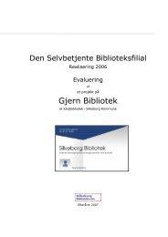 Rapport - Silkeborg Bibliotekerne