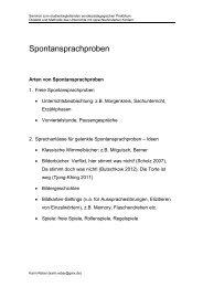 Spontansprachproben - Dr. Karin Reber