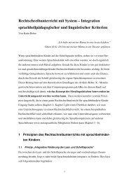 Artikel zum Rechtschreibunterricht - Dr. Karin Reber