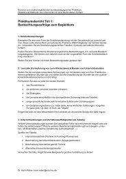 Praktikumsbericht Teil 1: Beobachtungsaufträge ... - Dr. Karin Reber