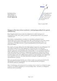 Høring om Den akutte indsats i psykiatrien - DaSyS
