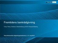 Fremtidens bankrådgivning (pdf) - Finansforbundet