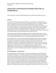 Læreprocesser i tværprofessionelt samarbejde mellem folke- og ...