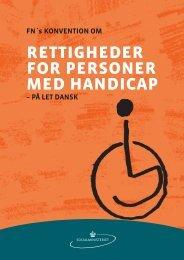 FN's handicapkonvention - Specialfunktionen Job & Handicap
