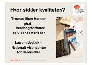 Hvor sidder kvaliteten? - Thomas Illum Hansen, laeremiddel.dk
