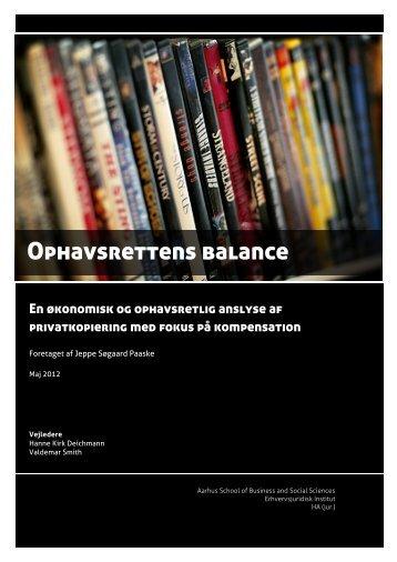 Ophavsrettens balance - PURE
