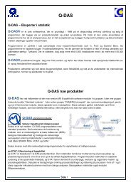 Q-DAS nye produkter - Metrologic