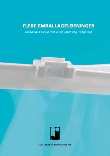 FLERE EMBALLAGELØSNINGER - Joka Plastic-emballage A/S