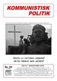 Kommunistisk Politik 20, 2007