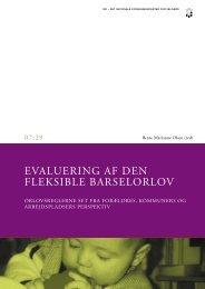 EVALUERING AF DEN FLEKSIBLE BARSELORLOV - SFI