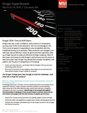 Kroger SuperSession - Kantar Retail iQ