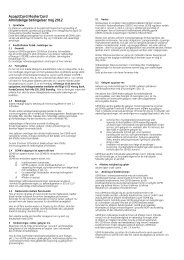 Almindelige betingelser - AcceptCard