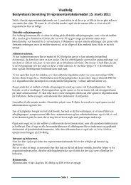 Beretning 15.03.2011 - Vivabolig hjemmeside