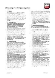 Almindelige forretningsbetingelser - Dansk Auto Logik A/S