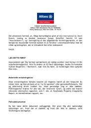 Rejseforsikring Police - Allianz (pdf) - Scanway /Tyrkiet Eksperten