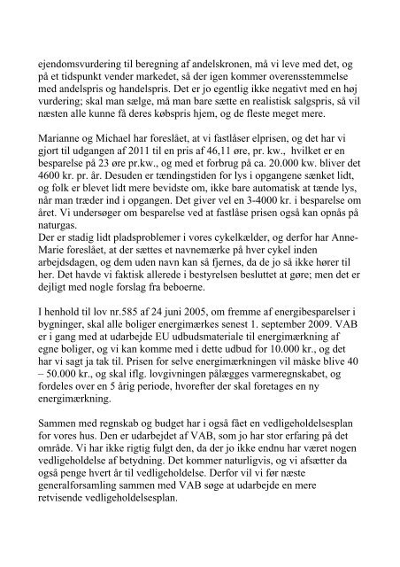 Bestyrelsens beretning generalforsamling 16 ... - A/B Beyers Bakke