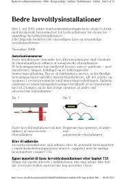 Bedre lavvolts lysinstallationer - LED belysning