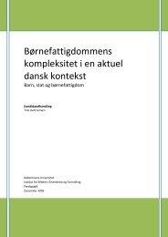 Børnefattigdommens kompleksitet i en dansk kontekst i ... - Børnerådet