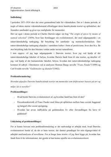 stx DaA-BioB. Darwinisme og Herman Bang.pdf - E-learn (SDU)
