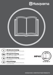 OM, HP40, SE, DK, NO, FI, 2009-08 - Husqvarna - Husqvarna ...