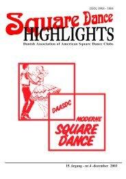 Highlights nr. 4 - 2003 - Danish Association of American Square ...