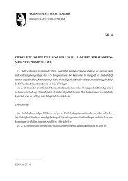 Cirkulære nr. 16 om boliger, som stilles til rådighed for ...