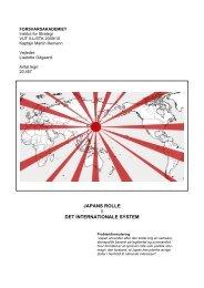 japans rolle i det internationale system - Forsvarsakademiet