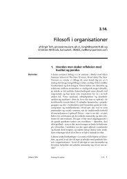 Filosofi i organisationer - Teamtoft